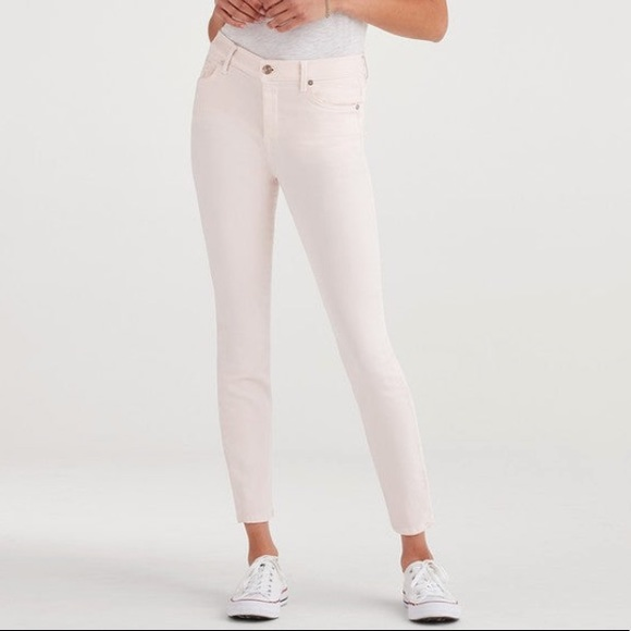 7 For All Mankind Denim - 7 For All Mankind High Waist Ankle Skinny Jeans